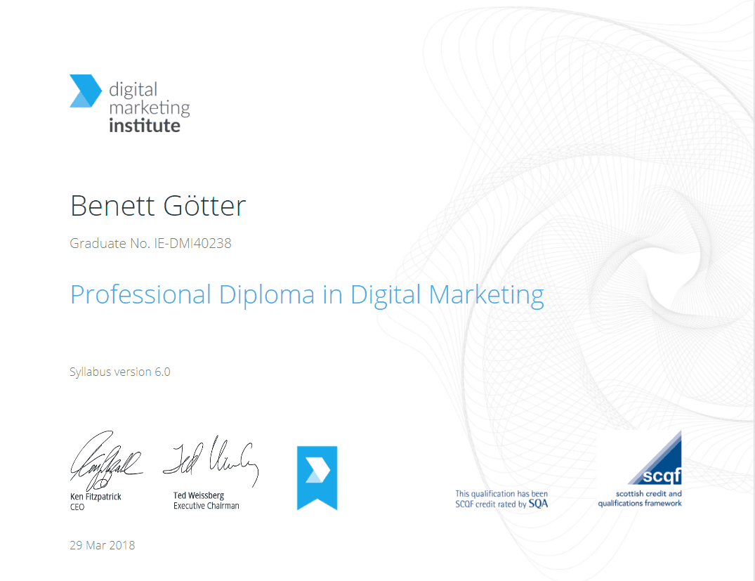 Professional Diploma Digital Marketing